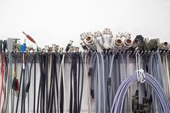 electric cables in a research laboratory - stock photo