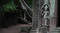 Spiritual corner in oriental garden Stock Footage