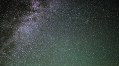 Astrophotography Time Lapse of Startrails over Mauna Kea Observatory -Sky Only- - stock footage