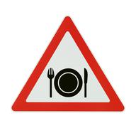 Attention! foodstuff - white background Stock Photos