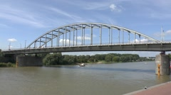 The John Frostburg (John Frost Bridge), Arnhem, Gelderland, Netherlands. Stock Footage