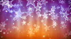 Purple Glassy Stars Stock Footage