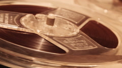 Vintage Tape Recorder Running Tape ECU Stock Footage