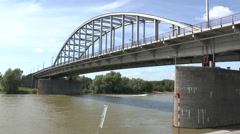 The John Frostburg (John Frost Bridge), Arnhem, Gelderland, Netherlands. - stock footage