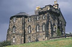 Stock Photo of historic building on calton hill, edinburgh, scotland