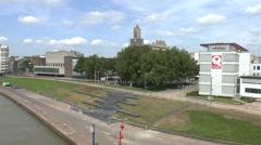 View from John Frostburg in Arnhem, Gelderland, Netherlands. - stock footage
