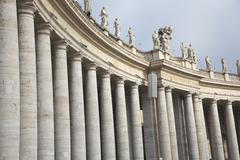Colonnade on the peter\'s square, vatican, rom, italy Stock Photos