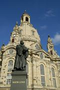 Stock Photo of martin luther monument frauenkirche dresden saxony germany