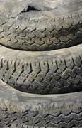 old used tires - stock photo