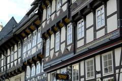 Stock Photo of unescco world heritage site picturesque old town framework at markt goslar lo