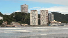 View of the city. Santos, São Paulo, Brazil. Sao Paulos litoral coast. 7 Stock Footage