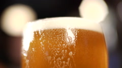 Beer Close-up Bubbles Stock Footage