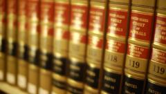 Dolly Across Court of Appeals Volumes Stock Footage