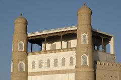 Ark of the town in bukhara uzbekistan Stock Photos
