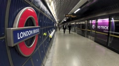 London Bridge Underground Station Stock Footage