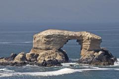natural arch la portada, antofagasta, antofagasta region, chile, south americ - stock photo