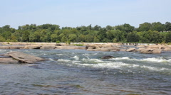 James River Rapids Stock Footage
