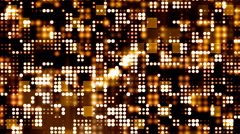 Golden Flashing Light Grid Stock Footage