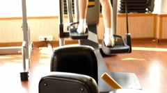 Girl in fitness hall Stock Footage