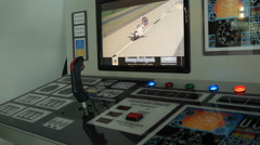 Kids space shuttle flight simulator 1 Stock Footage