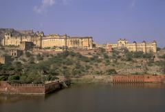 Amber fort near jaipur, rajasthan, india Stock Photos