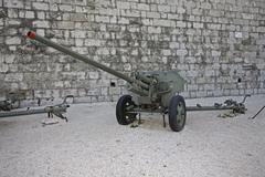 Soviet anti-tank rocket zis-2, 57 mm, model 1943 Stock Photos