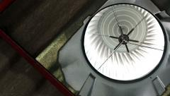 Metal ventilator on the roof of factory (2 clips) Stock Footage