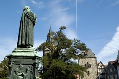 Stock Photo of eisenach, germany, thuringia, martin luther monument
