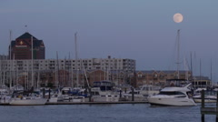 Baltimore Harbor At Dusk Stock Footage