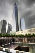 The New World Trade Center and 911 Memorial in New York Stock Photos