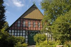 Historical building at the youth farm, castle vlotho on the amtshausberg, teu Stock Photos