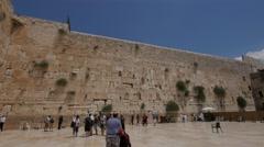 Jerusalem 4K Wailing wall wide 2 25P Stock Footage