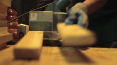 Worker's Hands at Lumberyard Stock Footage