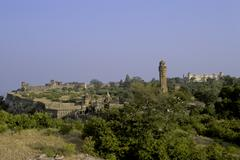 Inside the fort of chittorgarh, rajasthan, india Stock Photos