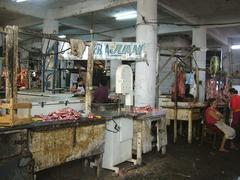 Catastrophal hygenical circumstances in a butchery in paraguay Stock Photos