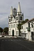 church in madalena do pico, pico, acores, portugal - stock photo