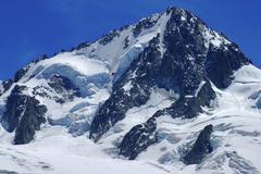 Aiguille du chardonnet, alps savoie, france Stock Photos