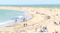 Ri beach in summer Stock Footage