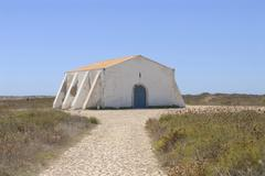 Old auditorium of the fort fortaleza de sagres a national monument on the pla Stock Photos