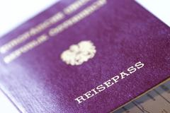 Stock Photo of austrian passport