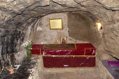 tomb of apostle apostolos barnabas under chapel near barnabas monastery near  - stock photo