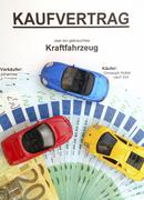 Symbolic for buying a car, agreement for sale Kuvituskuvat