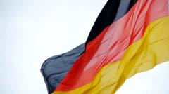 HD1080p50 German flags Stock Footage