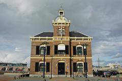 Port authorities, harlingen, frisia, netherlands Stock Photos