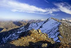 Stock Photo of mountain peak in the tux alps, tyrol, austria, europe