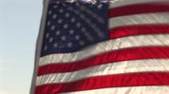 American Flag waves Stock Footage