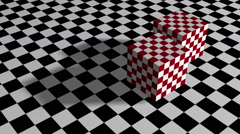 Stock Video Footage of red cubes