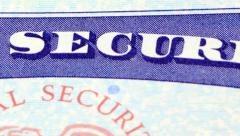 Social security card retirement benefits concept Arkistovideo
