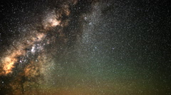 Astro Time Lapse of Milky Way Sunrise over Mauna Kea Observatory -Sky Only- - stock footage