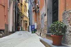 alley in vernazzo, ligurien, cinque terre, italy, europe - stock photo